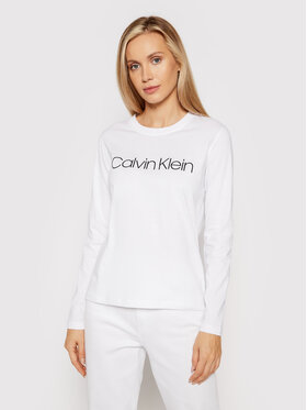 Calvin Klein Calvin Klein Bluse Core Logo K20K203024 Weiß Regular Fit