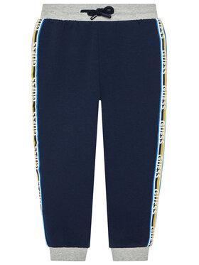 Guess Guess Teplákové kalhoty N1YQ13 KA6R0 Tmavomodrá Regular Fit