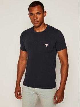 Guess Guess T-Shirt Core M0YI24J 1300 Granatowy Super Slim Fit