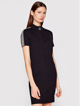 MICHAEL Michael Kors MICHAEL Michael Kors Džemper haljina MS1806ABVC Crna Slim Fit