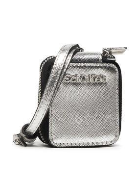 Calvin Klein Calvin Klein Custodia per auricolari Ipod Air Dangle Saffiano K60K608313 Argento