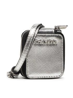Calvin Klein Calvin Klein Kutija za slušalice Ipod Air Dangle Saffiano K60K608313 Srebrna
