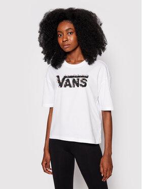 Vans Vans T-Shirt Rose Garen VN0A5L63 Biały Regular Fit