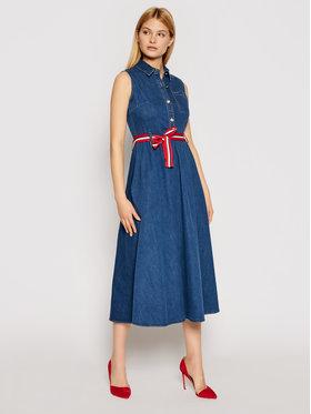Liu Jo Liu Jo Sukienka jeansowa UA1168 D4435 Granatowy Regular Fit
