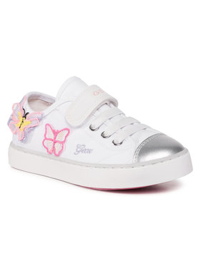Geox Geox Sneakers aus Stoff J Ciak G. I J0204I 00010 C0406 S Weiß