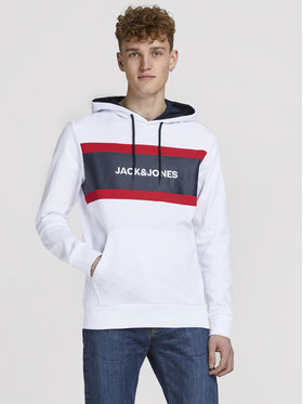 Jack&Jones Jack&Jones Majica dugih rukava Shake 12183444 Bijela Relaxed Fit
