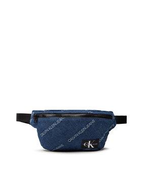 Calvin Klein Jeans Calvin Klein Jeans Чанта за кръст Denim Logo Jacquard Waistpack IU0IU00208 Тъмносин