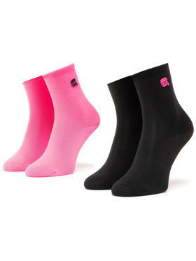 KARL LAGERFELD KARL LAGERFELD 2 pár hosszú szárú női zokni 205W6005 Rózsaszín