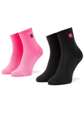 KARL LAGERFELD KARL LAGERFELD Súprava 2 párov vysokých dámskych ponožiek 205W6005 Ružová