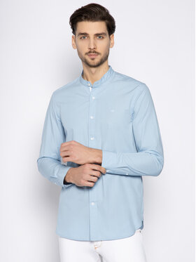Calvin Klein Calvin Klein Koszula Standcollar Shirt K10K105283 Niebieski Regular Fit