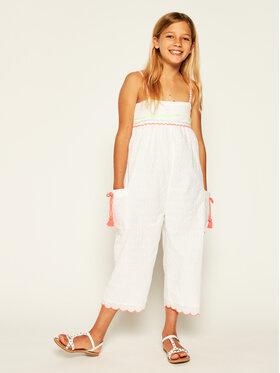 Billieblush Billieblush Гащеризон U14355 Бял Regular Fit
