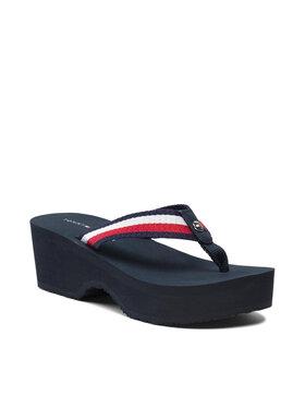 Tommy Hilfiger Tommy Hilfiger Japonki Shimmery Ribbon Beach Sandal FW0FW05665 Różowy