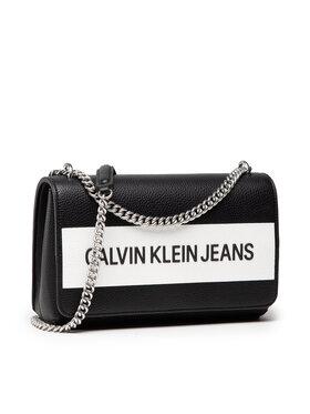 Calvin Klein Jeans Calvin Klein Jeans Sac à main Ew Flap Convertible K60K608562 Noir
