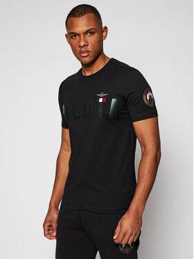 Aeronautica Militare Aeronautica Militare T-Shirt 211TS1851J513 Czarny Regular Fit
