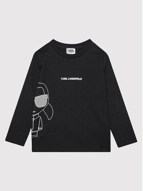 KARL LAGERFELD KARL LAGERFELD Блуза Z25306 M Черен Regular Fit