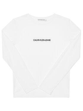 Calvin Klein Jeans Calvin Klein Jeans Bluză Logo Rib IG0IG00571 Alb Regular Fit