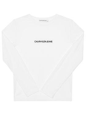 Calvin Klein Jeans Calvin Klein Jeans Блуза Logo Rib IG0IG00571 Бял Regular Fit