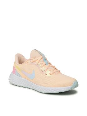 Nike Nike Buty Revolution 5 Se (Gs) CZ6206 800 Pomarańczowy