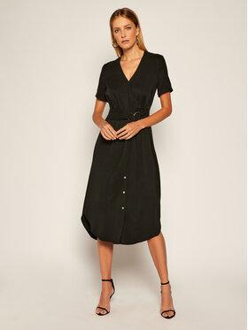 Calvin Klein Calvin Klein Každodenní šaty Tencel Ss Wrap K20K202182 Černá Regular Fit