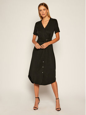 Calvin Klein Calvin Klein Rochie de zi Tencel Ss Wrap K20K202182 Negru Regular Fit