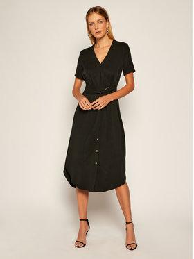 Calvin Klein Calvin Klein Sukienka codzienna Tencel Ss Wrap K20K202182 Czarny Regular Fit