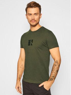 Calvin Klein Jeans Calvin Klein Jeans T-Shirt Logo J30J316656 Zielony Slim Fit