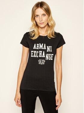Armani Exchange Armani Exchange Marškinėliai 6GYTAC YJ73Z 1200 Juoda Slim Fit
