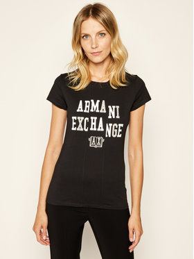 Armani Exchange Armani Exchange T-Shirt 6GYTAC YJ73Z 1200 Czarny Slim Fit