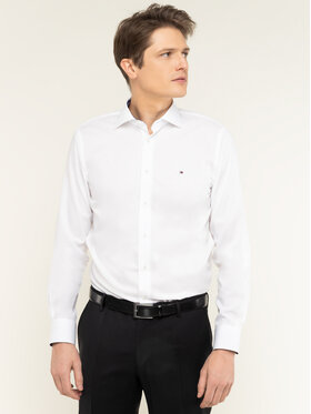 Tommy Hilfiger Tailored Tommy Hilfiger Tailored Koszula Poplin Classic TT0TT06631 Biały Regular Fit