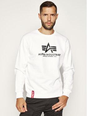 Alpha Industries Alpha Industries Sweatshirt Basic 178302 Blanc Regular Fit