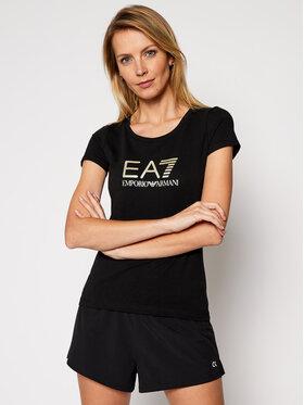 EA7 Emporio Armani EA7 Emporio Armani T-shirt 8NTT63 TJ12Z 0200 Nero Slim Fit
