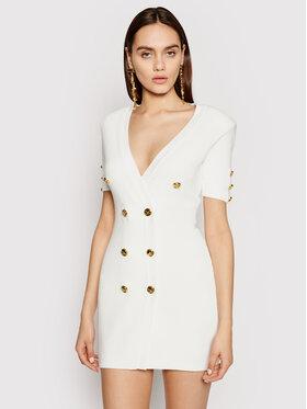 Elisabetta Franchi Elisabetta Franchi Úpletové šaty AM-05S-11E2-V440 Bílá Slim Fit