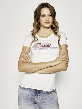 Guess Guess T-Shirt W0GI78 K46D0 Biały Regular Fit