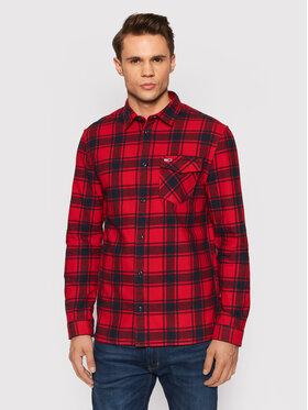 Tommy Jeans Tommy Jeans Marškiniai Flannel Plaid DM0DM11322 Raudona Regular Fit