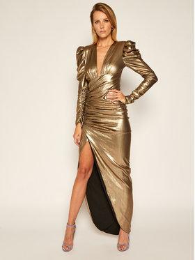 Babylon Babylon Vakarinė suknelė S00946 Auksinė Regular Fit