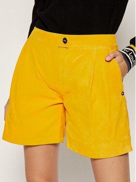 Liu Jo Liu Jo Kožne kratke hlače C19189 P0338 Žuta Regular Fit