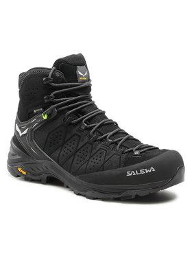 Salewa Salewa Trekingová obuv Ms Alp Trainer 2 Mid Gtx GORE-TEX 61382-0971 Čierna