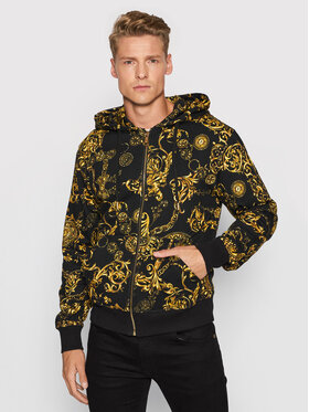Versace Jeans Couture Versace Jeans Couture Mikina Print Bijoux Bar 71GAI3Z0 Černá Regular Fit