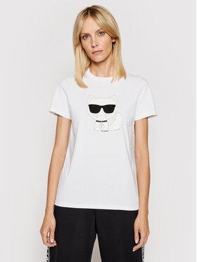 KARL LAGERFELD KARL LAGERFELD T-shirt Ikonik Choupette 210W1723 Bijela Regular Fit