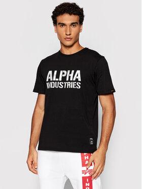 Alpha Industries Alpha Industries Тишърт Camo Print 156513 Черен Regular Fit