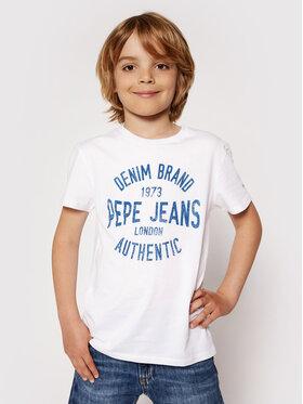 Pepe Jeans Pepe Jeans Tricou Jack PB503143 Alb Regular Fit