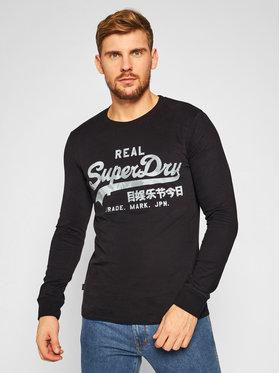 Superdry Superdry Longsleeve Vl Infill Ls Top M6010178A Negru Regular Fit
