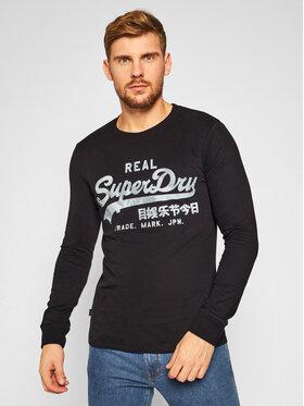 Superdry Superdry Тениска с дълъг ръкав Vl Infill Ls Top M6010178A Черен Regular Fit