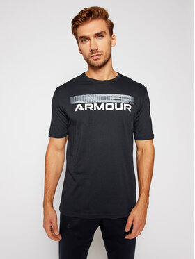 Under Armour Under Armour Póló Ua Blurry Logo Wordmark 1357154 Fekete Loose Fit