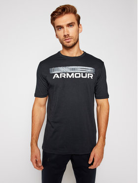 Under Armour Under Armour Tricou Ua Blurry Logo Wordmark 1357154 Negru Loose Fit