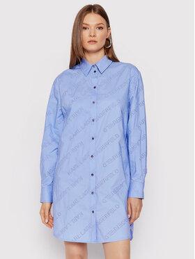 KARL LAGERFELD KARL LAGERFELD Koszula 215W1600 Niebieski Oversize