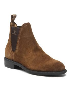 Gant Gant Kotníková obuv s elastickým prvkem Alnsley 23551107 Hnědá