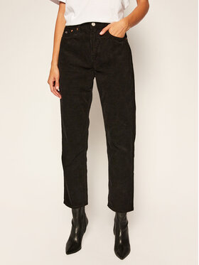 Tommy Jeans Tommy Jeans Pantalon en tissu Harper DW0DW09186 Noir Straight Fit