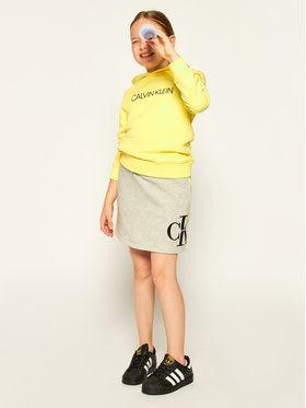 Calvin Klein Jeans Calvin Klein Jeans Fustă Monogram IG0IG00524 Gri Regular Fit