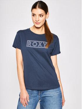 Roxy Roxy T-shirt Epic Afternon Wrod Nord Atlantic ERJZT04808 Bleu marine Regular Fit